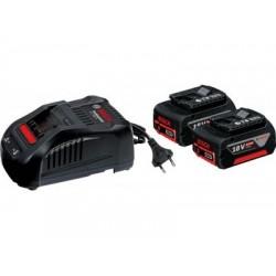 Комплект акумулаторни батерии Bosch 2 x GBA 18 V 5,0 Ah M-C + AL 1880 CV