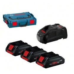 Комплект BOSCH 3 батерии GBA x18V-5.0Ah + GAL 1880 CV + Професионална чанта