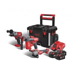 Комплект акумулаторни инструменти Milwaukee M18 FPP4A-503P 4933471148 - 18V Li-Ion