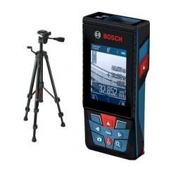 Лазерна ролетка Bosch GLM 120 C Professional  + Статив  BT 150 Professional / 55 - 157 см /