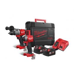 Комплект акумулаторни инструменти Milwaukee M18 FPP2A2-502X - 18V Li-Ion