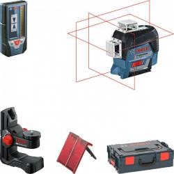 Лазерен нивелир Bosch GLL 3-80 C + Лазерен приемник LR7