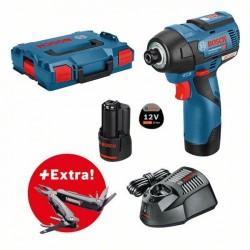 Акумулаторен ударен гайковерт Bosch GDR 12V-110  Professional, 2x3.0 Ah, L-BOXX + Мулти инструмент