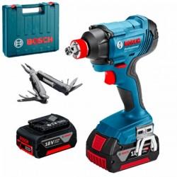 Акумулаторен ударен гайковерт Bosch GDX 180-LI Professional /18 V, 180 Nm, 2x 3.0Ah, зарядно и куфар / + Мулти инструмент