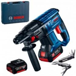 Акумулаторен перфоратор Bosch GBH 180-LI, 2x4.0 Ah, куфар + Мулти инструмент