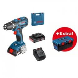 Акумулаторен винтоверт GSR 18-2-LI Plus Professional, 2x2.0 Ah, куфар + Bosch Toolbox PRO