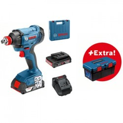 Акумулаторен ударен гайковерт Bosch GDX 180-LI Professional /18 V, 180 Nm, 2x 3.0Ah, зарядно и куфар / + Bosch Toolbox PRO