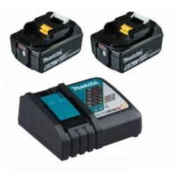 Акумулаторен к-кт батерии + бързозарядно у-во Makita 6.0Ah