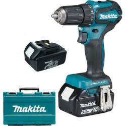 Акумулаторен винтоверт Makita DDF483RFE /18 V , 3.0 Ah /2xBL1830, зарядно и куфар/