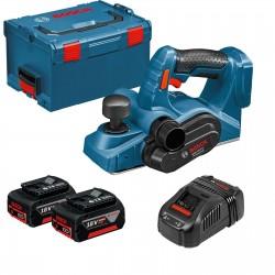 Акумулаторно ренде Bosch GHO 18 V-LI Professional, 2x5.0Ah, L-BOXX