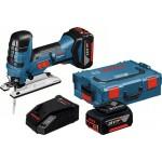 Акумулаторен прободен трион Bosch GST 18V-LI S, 2 x 5.0Ah, L-Boxx + Прахосмукачка GAS 18V-10 L