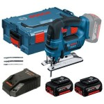 Акумулаторен прободен трион Bosch GST 18 V-LI B Professional, 2x5.0Ah, L-BOXX + Прахосмукачка GAS 18V-10 L