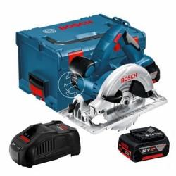 Акумулаторен циркуляр Bosch GKS 18 V-LI, 2 x 5,0 AH, L-Boxx