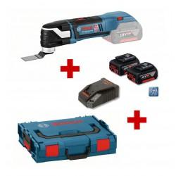 Акумулаторен многофункционален инструмент Bosch GOP 18 V-28 Professional, 2X5Ah, L-BOXX
