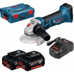 Акумулаторен ъглошлайф Bosch GWS 18 V-LI Professional, 2x5.0Ah, L-BOXX