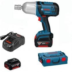 Акумулаторен ударен гайковерт Bosch GDS 18 V-LI HT 2 x 5,0 AH L-Boxx + Акумулаторен винтоверт GSR 18 V-EC Professional