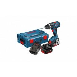 Акумулаторен ударeн винтоверт GSB 18-2-LI Plus Professional, 2x2.0Ah, куфар + Мултифункционален инструмент Swiss Peak