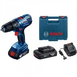Акумулаторен ударно-пробивен винтоверт Bosch GSB 180-LI Professional, 2x1.5 Ah, куфар