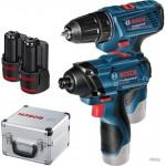 BOSCH Комплект акум винтоверт GSR 120 Li + акум гайковерт GDR 120 Li Professional
