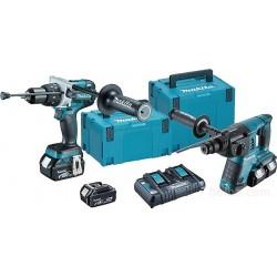 DLX2097PMJ Акум. перфоратор DHR263 18 V + Акум. ударен винтоверт DHP481 + 4 бр. батерии х 4 Ah