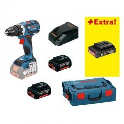 Акумулаторен винтоверт Bosch GSR 18V-EC + 2x4Ah + 1x2Ah + L-boxx