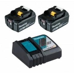 Акумулаторен к-кт батерии + бързозарядно у-во MAkita 5.0Ah