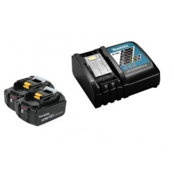 Makita Акумулаторен К-кт батерии 2 x 5.0 Ah + бързозарядно у-во