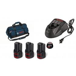 Bosch Комплект 3 Батерии х 12V 2.0Ah + Зарядно + Чанта